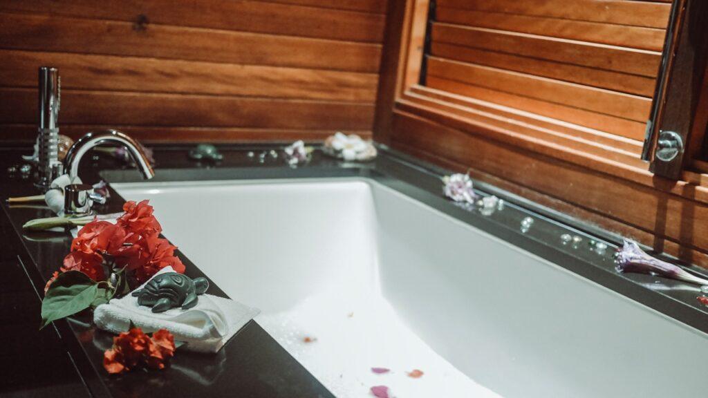 Bora Bora łazienka w domku na wodzie