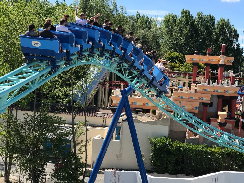 Rollercoaster Pegase Express w Parku Asterix pod Paryżem