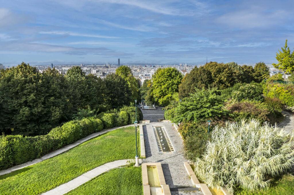 Park Belleville dla dzieci w Paryżu