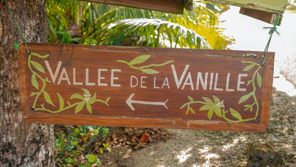 Plantacja wanilii w Polinezji na wyspie Taha'a.