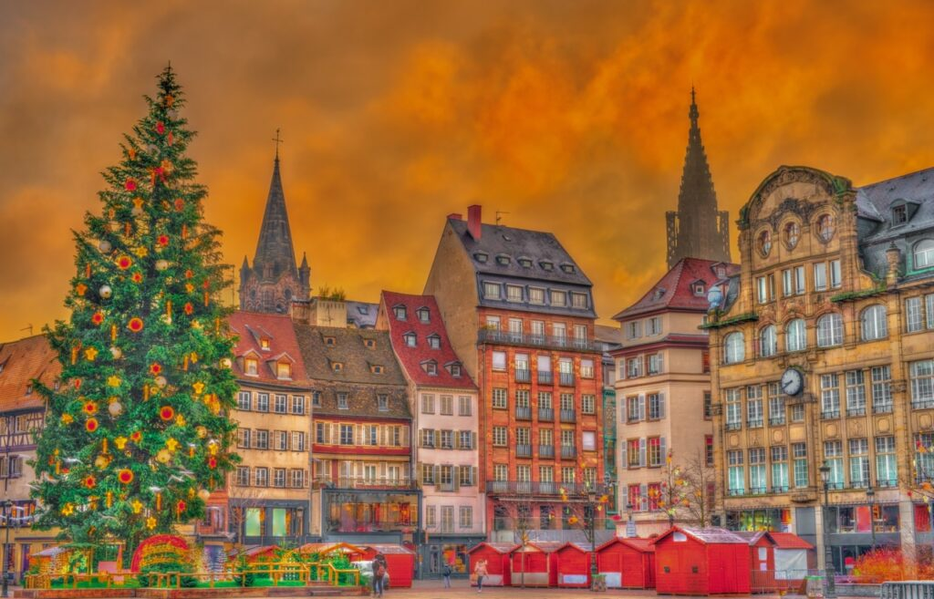 Jarmark bożonarodzeniowy w Strasburgu.