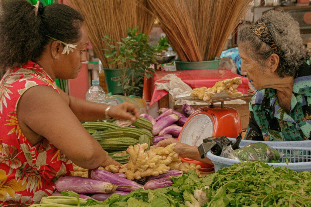 Rynek w Papeete na wyspie Tahiti