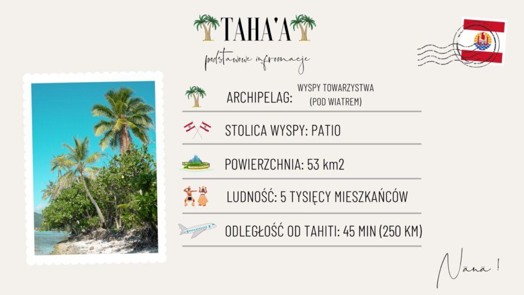 Wyspa Tahaa wakacje